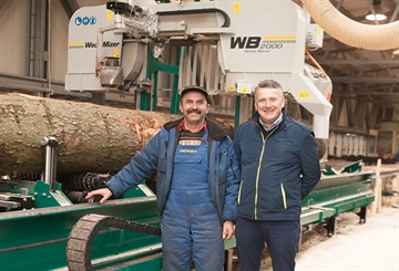 WB2000 wideband sawmill is Polish sawmiller's 10th Wood-Mizer!